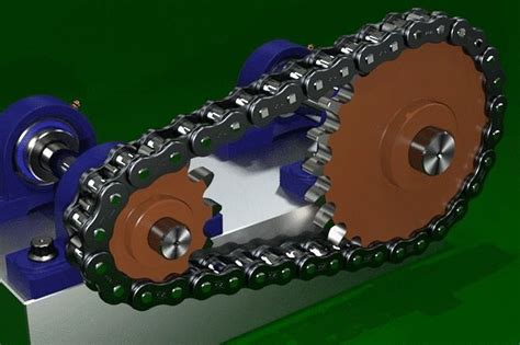 Chain Sprocket Animation 3d Model