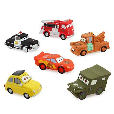 disney bath toy set cars