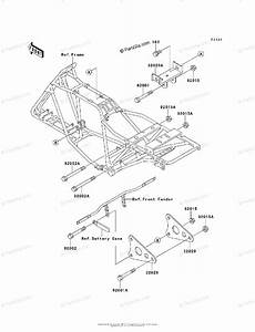 Kawasaki Atv 1995 Oem Parts Diagram For Frame  U0026 Fittings