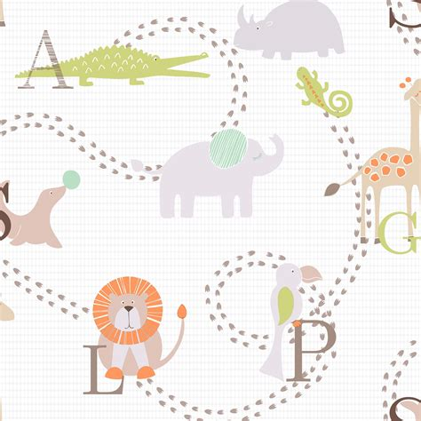 animal nursery childrens wallpaper departments diy  bq
