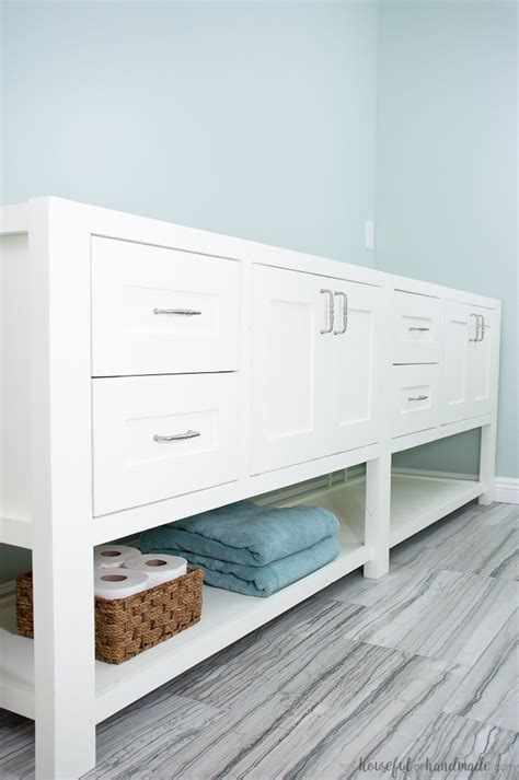 how to build open cabinets mission style open shelf bathroom vanity build plans a