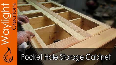 easy diy wood storage cabinet youtube