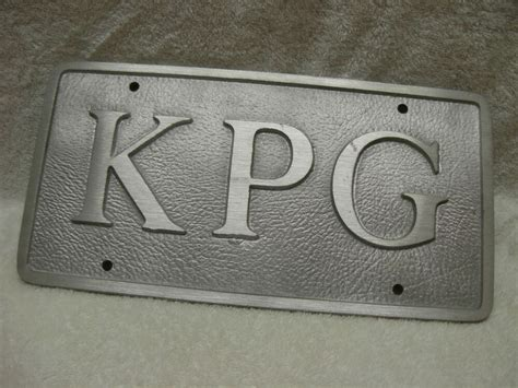 monogram  initials front license plate vanity car tag thick alloy sicr ebay