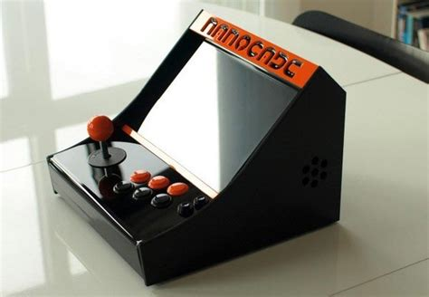 Build Arcade Cabinet Cheap by Nanocade Turns Your Netbook Into An Arcade Cabinet