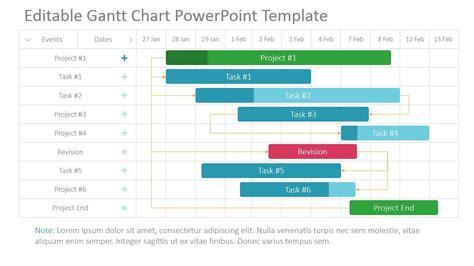 project gantt chart powerpoint template timeline