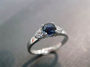 blue sapphire engagement rings white gold engagement ring with and blue sapphire in 14k white gold on luulla