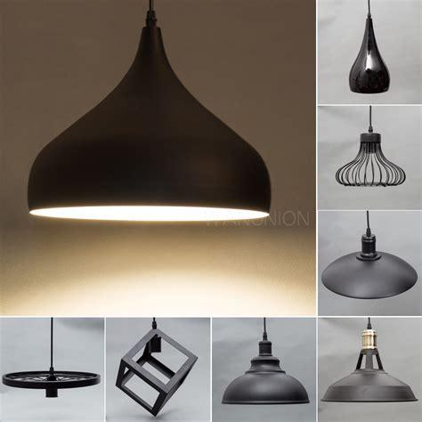 l shade ceiling fixture black modern metal pendant ceiling l chandelier light