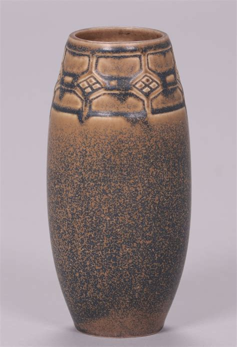 rookwood matte brown ombroso glaze vase  california