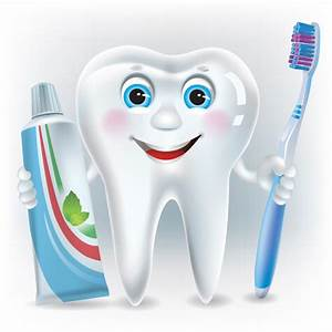 Cartoon Toothbrush And Toothpaste