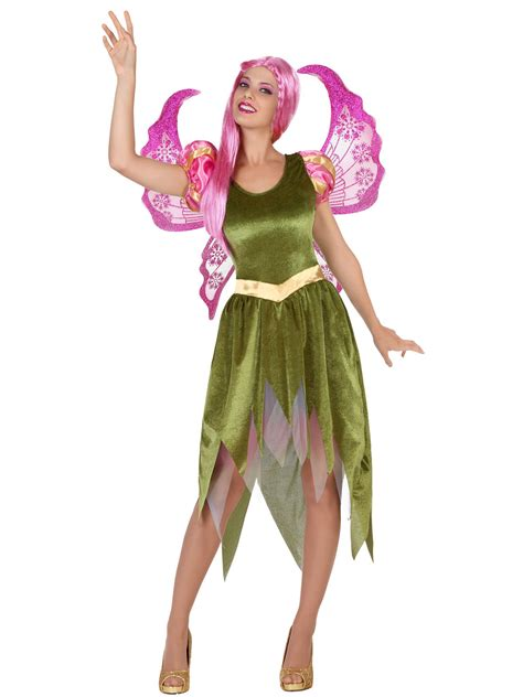 bezaubernde fee damenkostuem elfe gruen guenstige faschings