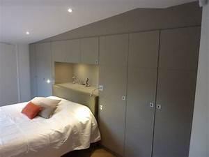 Dressing Derrière Tete De Lit : dressing chambre avec t te de lit encastr e sous plafond ~ Premium-room.com Idées de Décoration