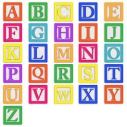 Baby Block Alphabet Letters