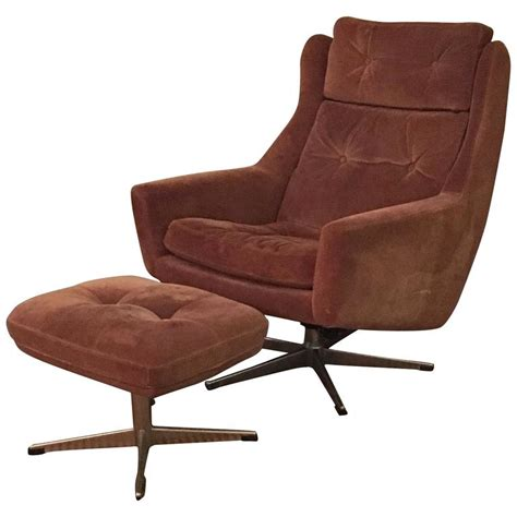 swivel lounge chair and ottoman scandinavian modern reclining swivel suede lounge chair