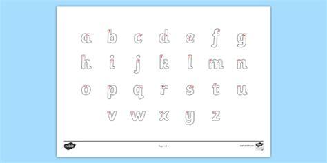 free letter formation alphabet handwriting sheet