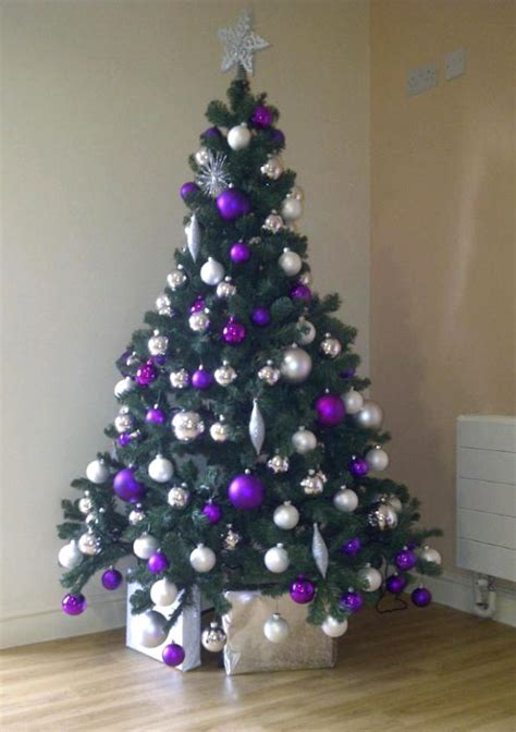 purple christmas tree decorations ideas