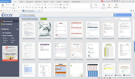 Wps Office  Templates Docer And More