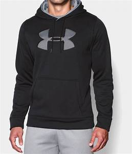Under Armour Mens UA Storm Fleece Big Logo Hoodie - Black ...