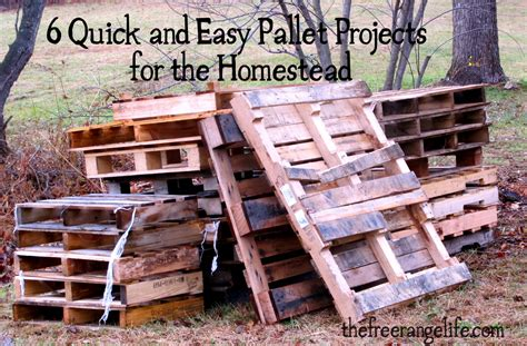 easy pallet projects 6 quick and easy pallet projects for the homestead