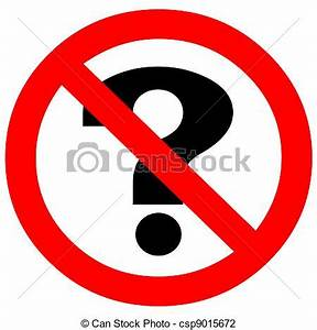 Clip Art of Don't ask symbol icon sign csp9015672 - Search ...