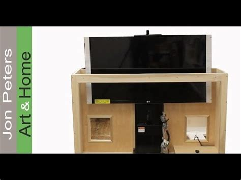 build  tv lift cabinet  bead molding  jon