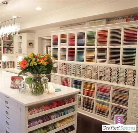 """Take A Tour Of This Amazing Craft Room! """"crafted Spaces"""
