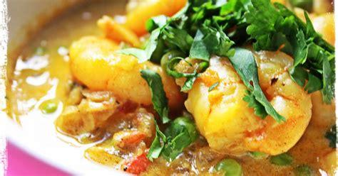 recette curry indien de crevettes au lait de coco