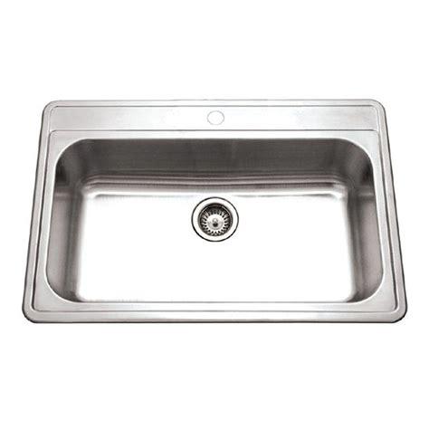 single bowl kitchen sink drop in houzer premiere gourmet series drop in stainless steel 33 9304