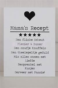 mama's rece... Moeder Dag Quotes