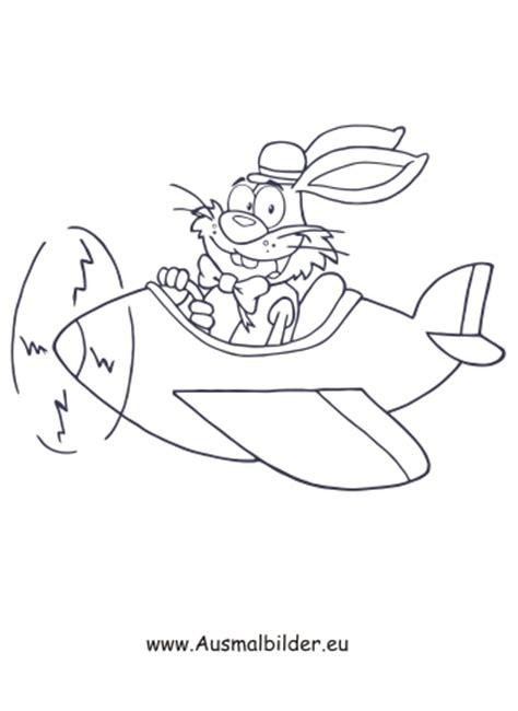 ausmalbilder osterhase im flugzeug osterhasen malvorlagen