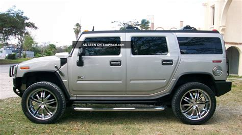 luxury hummer 2005 hummer h2 luxury 4x4 dvd chrome pkg 24 quot wheels