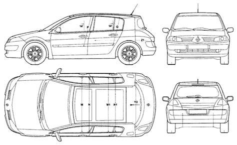 2007 renault megane ii hatchback blueprints free outlines