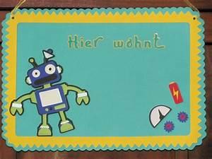 Türschild Kinderzimmer Basteln : t rschilder kinderzimmer t rschild roboter ein designerst ck von wonderful paper art bei ~ Orissabook.com Haus und Dekorationen