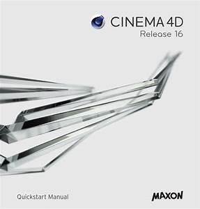Maxon Cinema Cinema 4d 16 0 Getting Started Guide