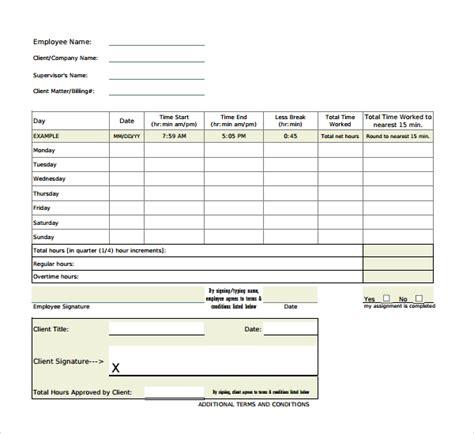 overtime sheet templates  sample  format