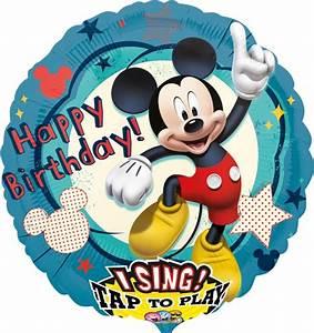 Happy Birthday Maus : happy birthday musikballon folien luftballon mit micky maus singender ballon mit helium und ~ Buech-reservation.com Haus und Dekorationen