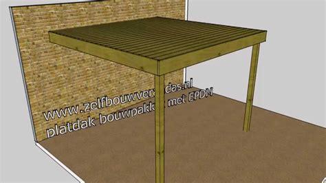 houten huis constructie overkapping hout platdak constructie www zelfbouwverandas