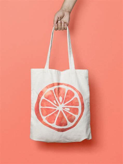 Totebag Fruit orange fruit tote bag canvas kawaii this bottle tote bag