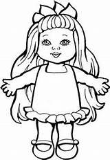 Doll Coloring Rag Dolls Printable Getcolorings Cinderella sketch template