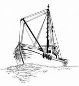 Boat Fishing Drawing Sketch Coloring Pages Drawings Boats Pencil Ocean Ship Kidsplaycolor Sketches Line Sailboat Fish Tattoos Tuna Ships Painting sketch template