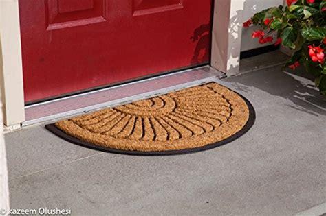 half doormat coco fiber half in laid doormat 24 quot x 39 quot front door