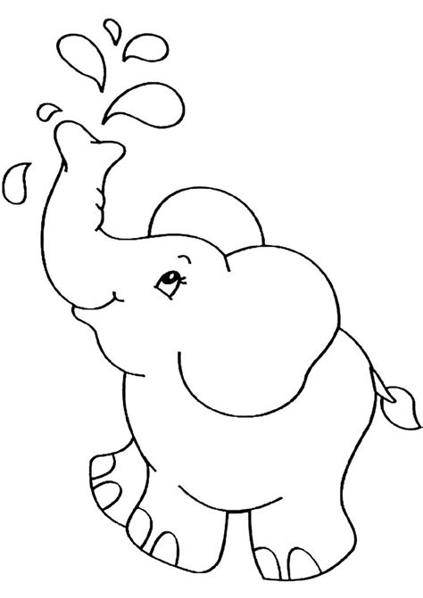 baby elephant coloring pages  kindergarten elephant