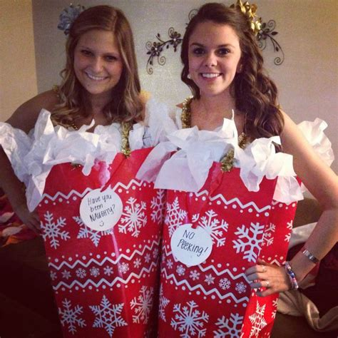 christmas gift bag costume halloween pinterest