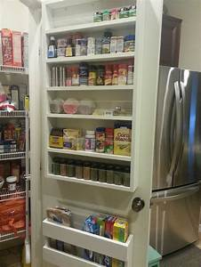 Shelves, On, Inside, Of, Pantry, Door