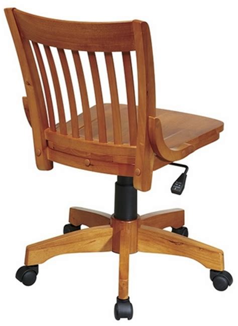 office deluxe armless wood bankers chair