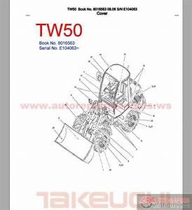 Takeuchi Tw50 8016563 Sn E104063 Parts Manual