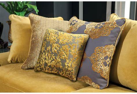 sm  gold living room set nailhead trim  cushion seating