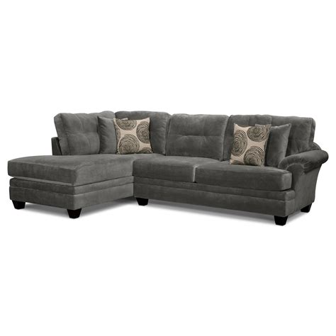 sectional sofa for small spaces cordelle 2 sectional with left facing chaise gray