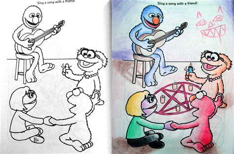 coloring book corruptions corrompiendo los cuadernos