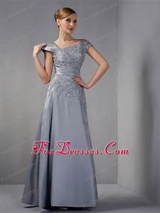 gray mother of the bride dress with appliques ankle length With mother in law wedding dresses