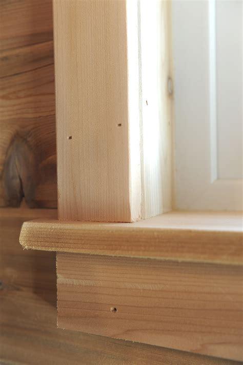 trim   sauna windows